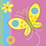 BUTTERFLY PARTY NAPKINS