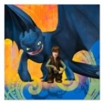 HOW TO TRAIN YOUR DRAGON LUNCH NAPKINS