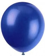 LATEX ROYAL BLUE BALLOON