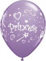 PRINCESS PURPLE LATEX  BALLOON