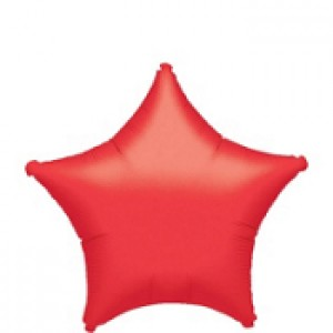 FOIL RED STAR BALLOON