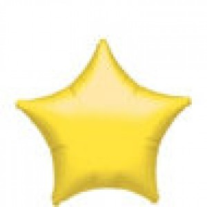 FOIL YELLOW STAR BALLOON